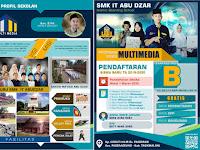 Download Contoh Brosur Sekolah SMK Format CDR