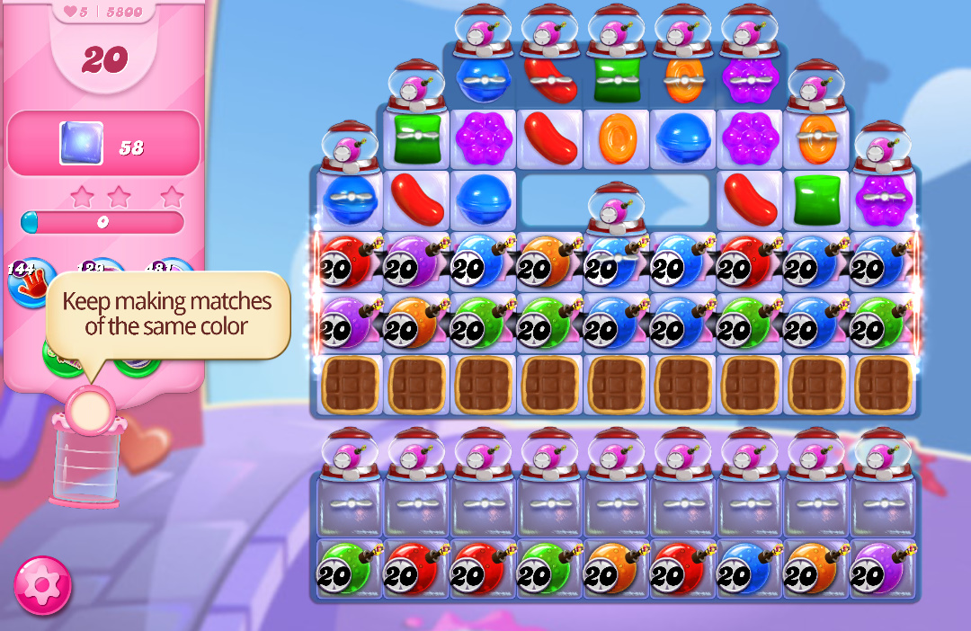 Candy Crush Saga level 5800