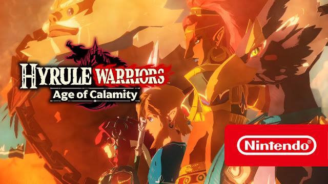 hyrule warriors age of calamity tokyo game show gameplay trailer reveal daruk impa mipha revali urbosa treasure box edition koei tecmo games nintendo hack and slash game switch