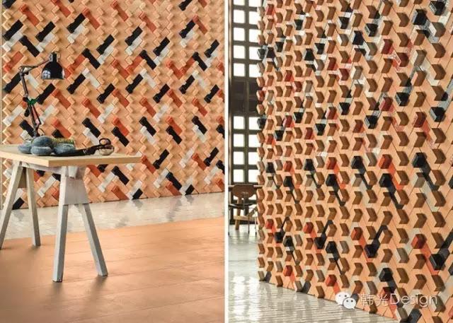 西班牙著名女設計師Patricia Urquiola為Mutina公司設計的Tierras牆磚