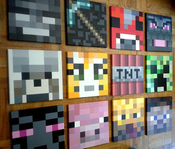 Decorative Wallpaper Minecraft Bedroom Design Theme