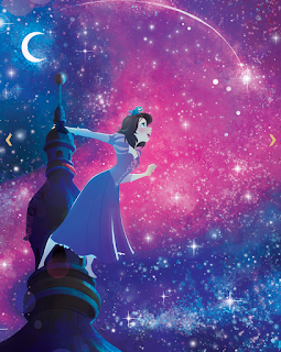 Illustration of Rapunzel admiring the stars