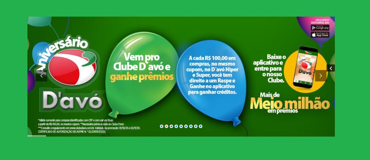 Aniversário 2020 D'Avó Supermercados Meio Milhão em Prêmios - Raspe e Ganhe
