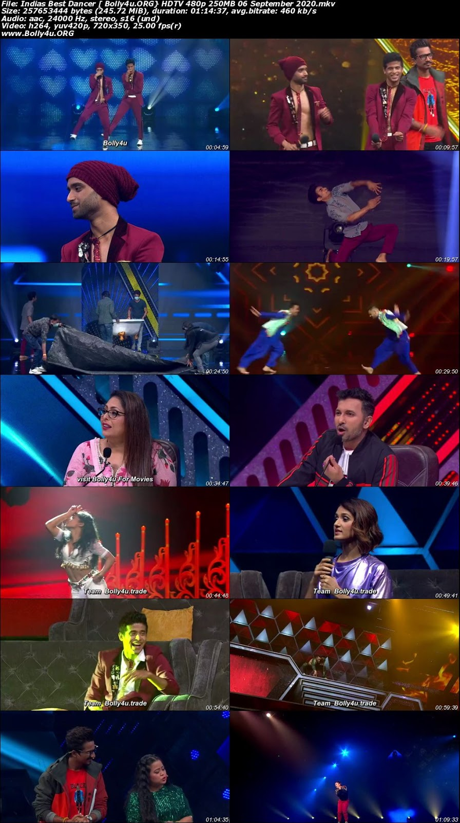 Indias Best Dancer HDTV 480p 250MB 06 September 2020 Download