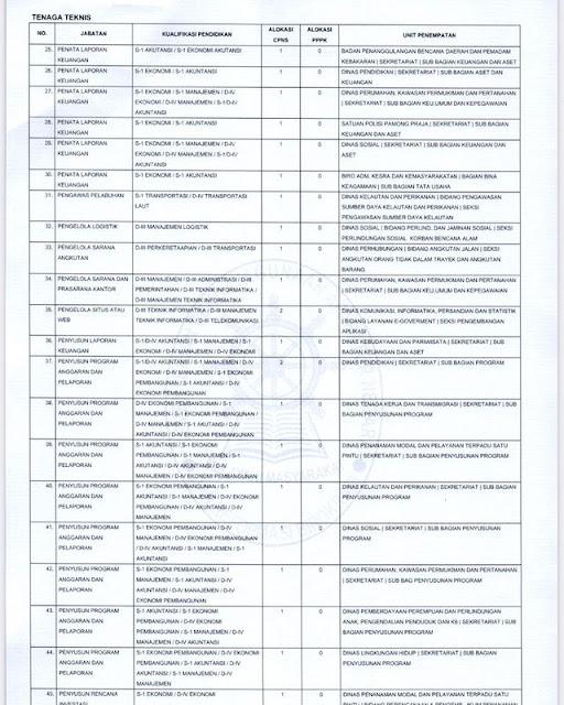 Formasi ASN 2021 Provinsi Kalimantan Tengah