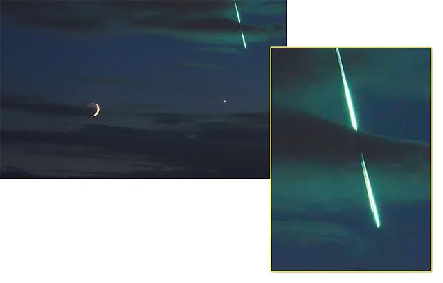 meteoro bola de fogo registrado durante show do Foo Fighters, na Bélgica, em 16 de junho de 2018 - Uwe Reichert