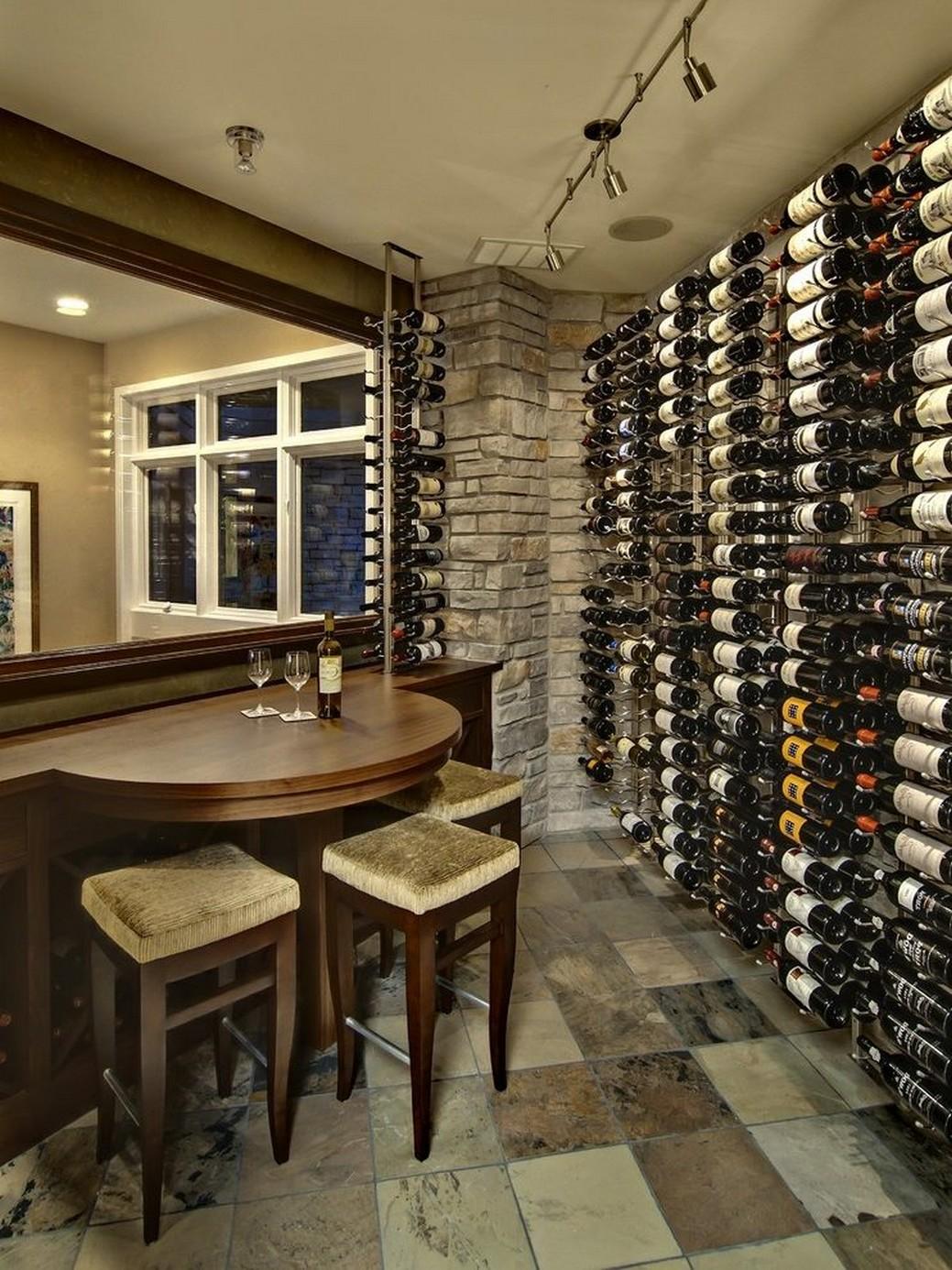 55++ First-Rate Cellar Decor Idea