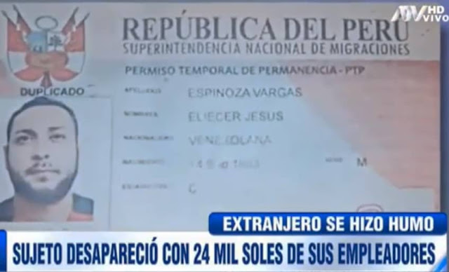 venezolano desaparece con dinero de sus empleadores