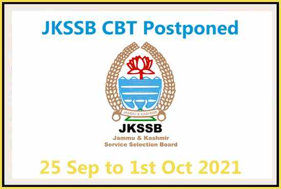 JKSSB CBT Postponed