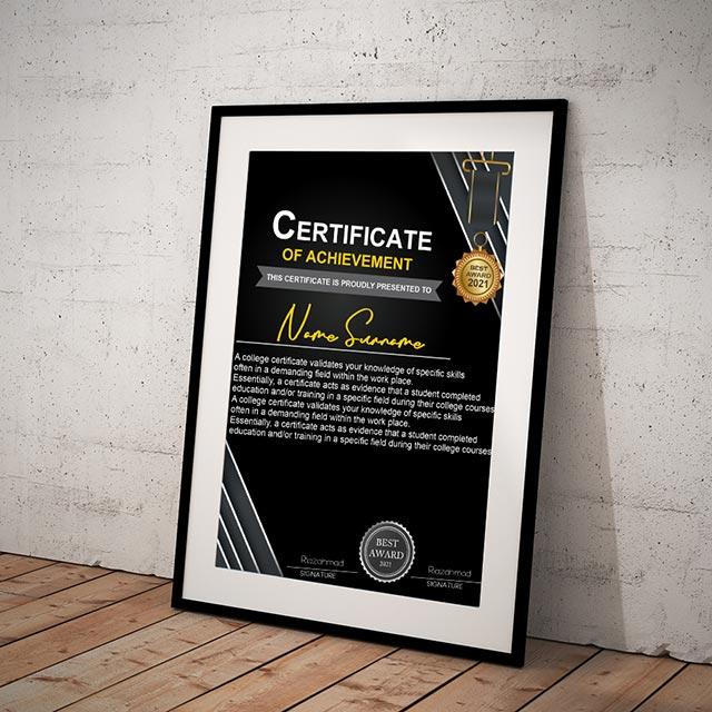 Certificate Template Free Vector Design Cdr file Download
