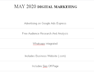 DIGITAL MARKETING - MAY 2020