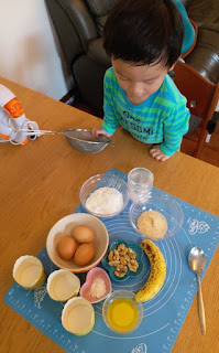 親子烘焙 低糖核桃香蕉紙杯Cup Cake