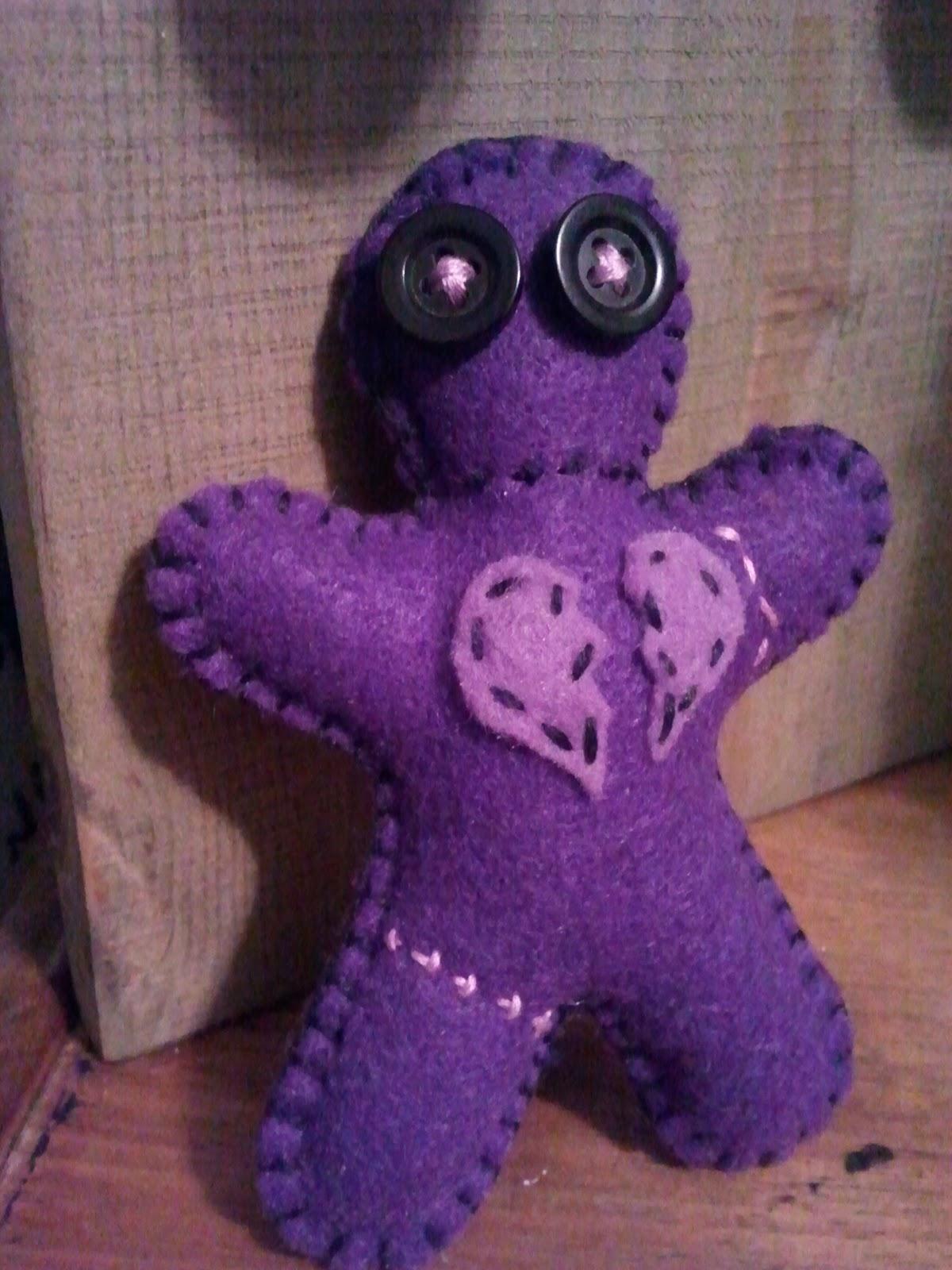 One Crafty Stitch Felt Voodoo Doll Pincushion