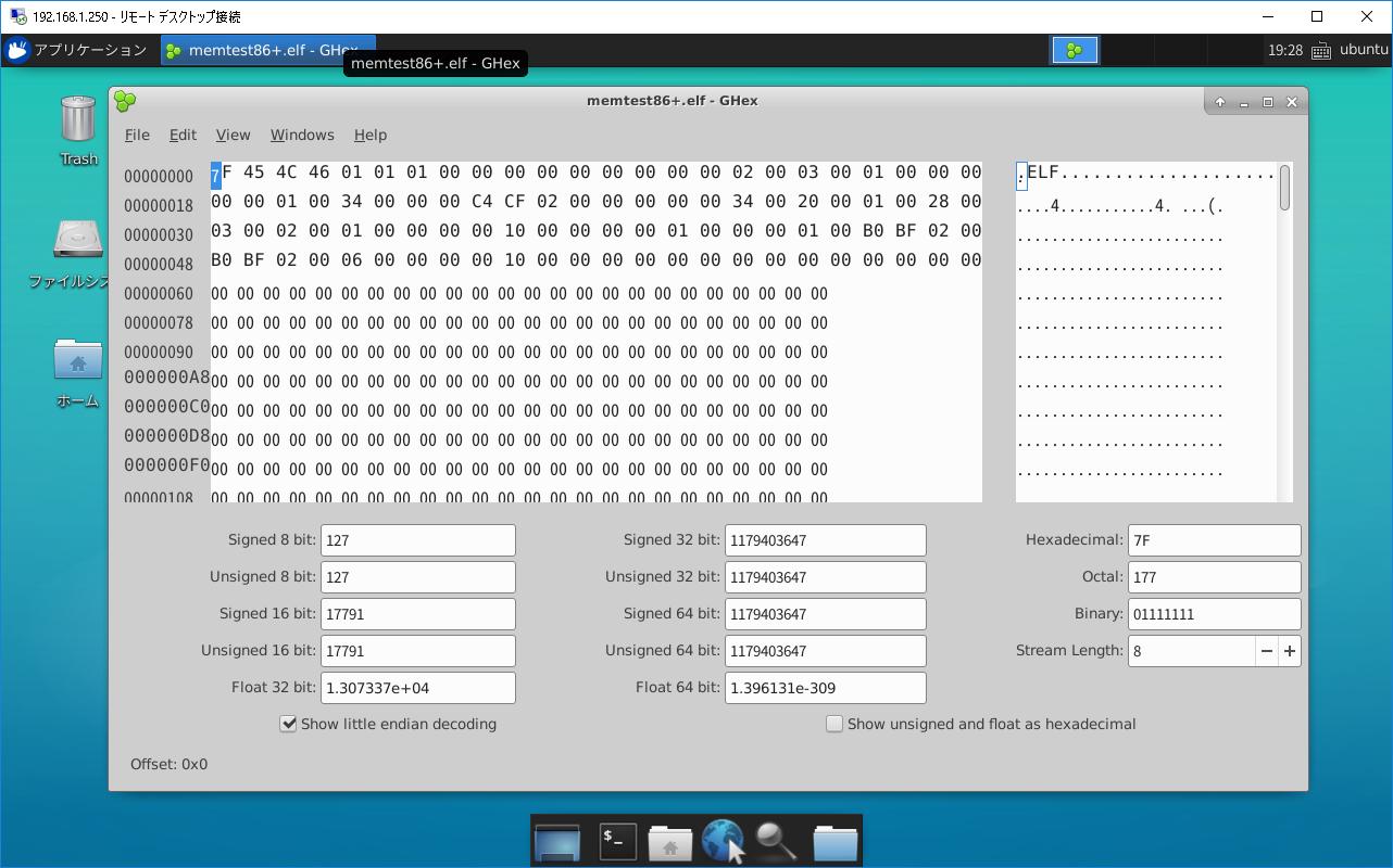 serverあれこれ: DockerでGHexとXfceデスクトップ環境がインストールされ