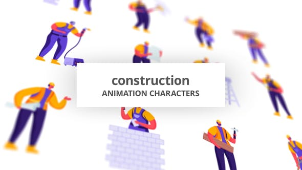 Videohive - Construction - Character Set 28672345