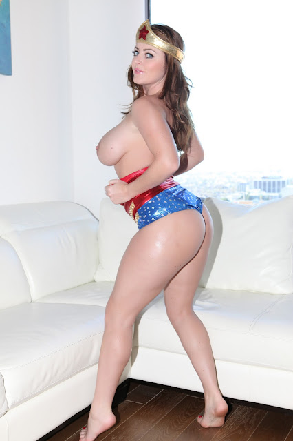 Sophie Dee sexy wonder woman naked boobs booty out