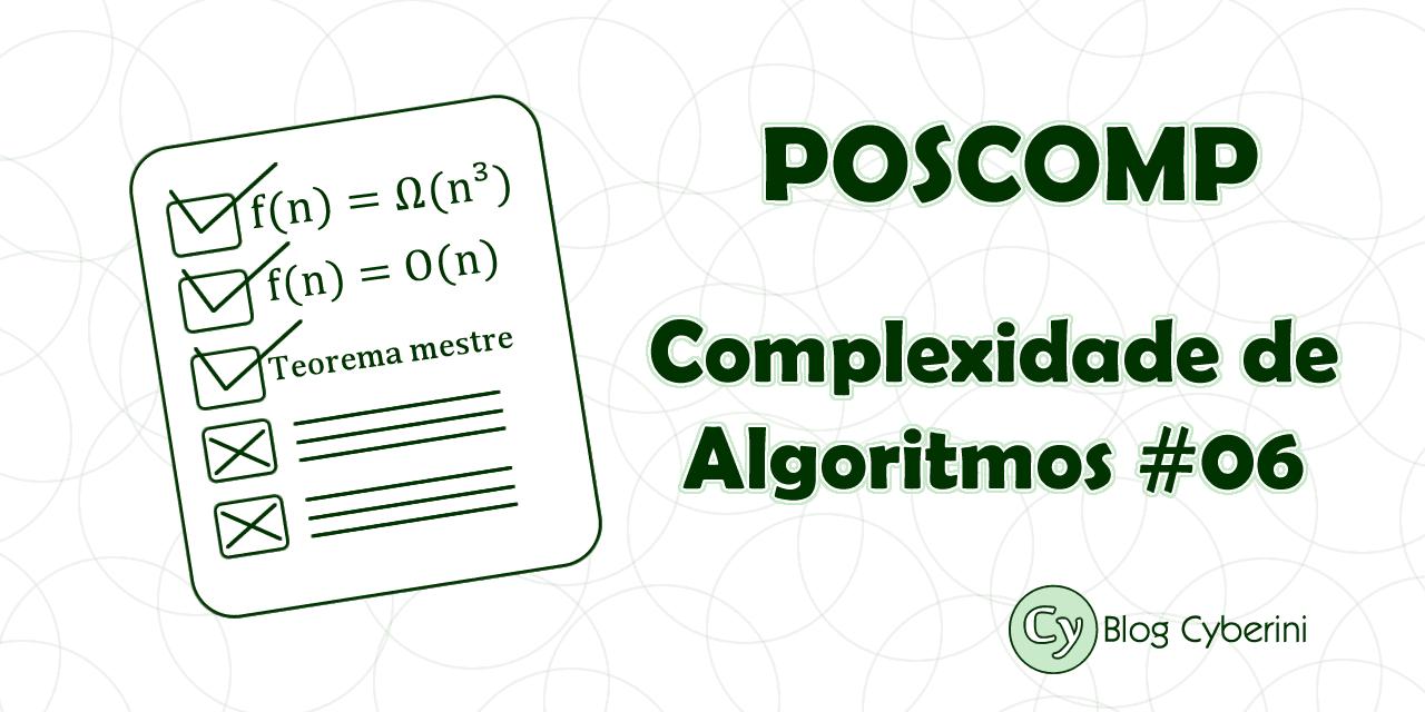 POSCOMP complexidade de algoritmos