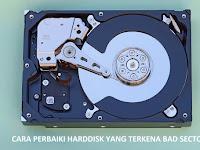 3 Cara mudah memperbaiki harddisk bad sector
