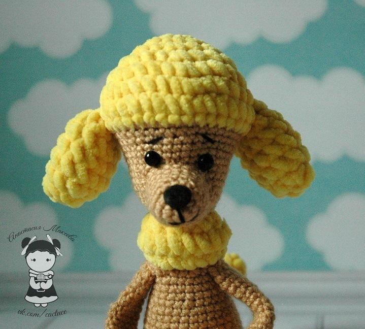 Собака амигуруми пудель