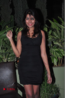Actress Kavya Kumar Stills in Black Short Dress at F Club pre soft Launch  0028.JPG