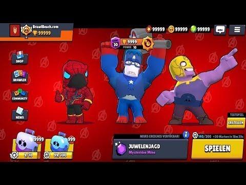 Brawl Stars Avengers Karekter modlu hileli apk indir