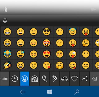 Tampilan Emoji Windows 10