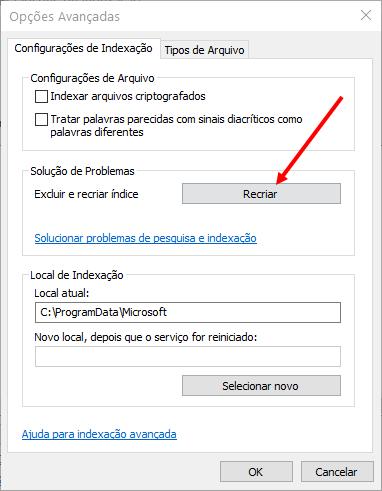 recriar-indice-windows-10