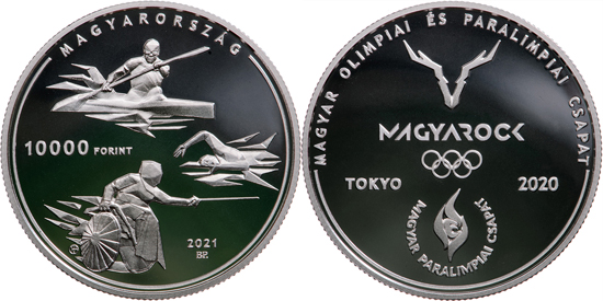 Hungary 10,000 forint 2021 - XXXII Olympiad and XVI Paralympic Games