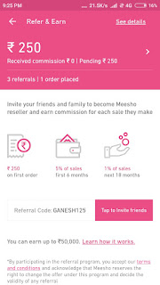 Meesho Refer and Earn