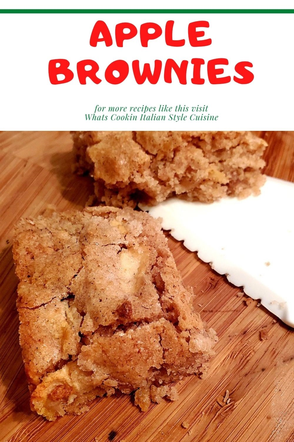 this is a pin for later for apple brownies