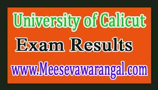 University of Calicut B.Sc (CCSSUG) IVth Sem 2016 Exam Results