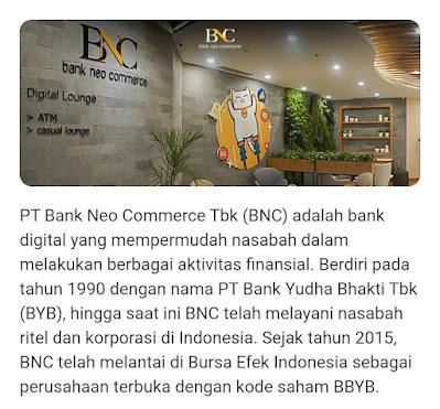 Apakah Aplikasi Neo+ Plus Aman Penghasil Uang Saldo Bisa Dicairkan Masuk ke Rekening Dana, Ini Penjelasan Bank BNC