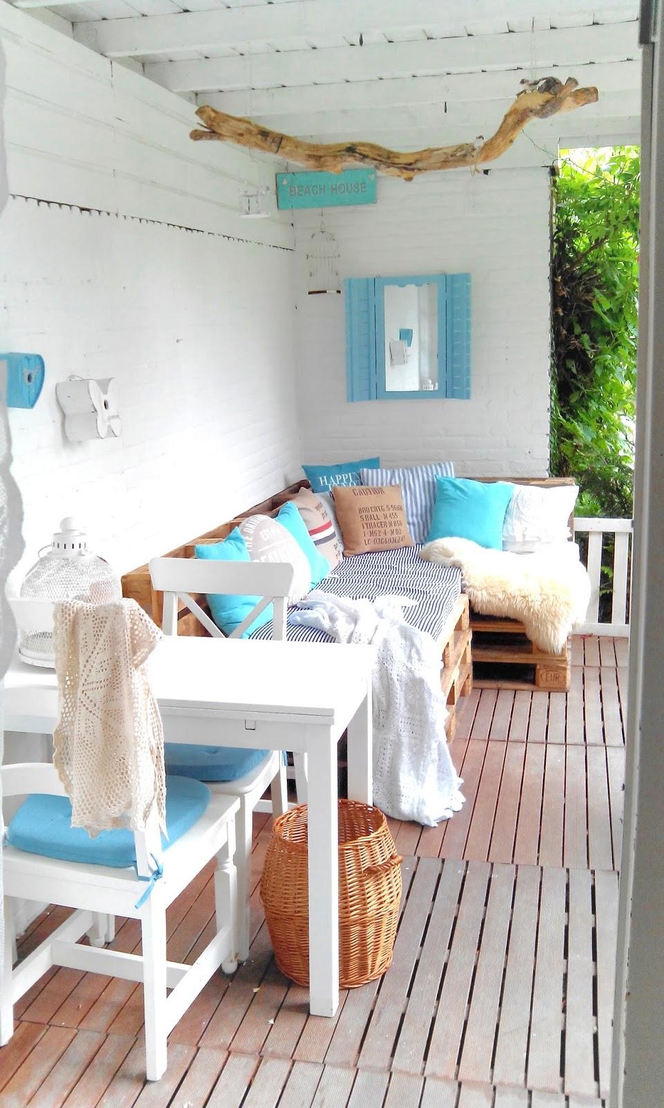 Bekend La Maison Crook: nieuwe inrichting veranda met een pallet loungebank! &WH54
