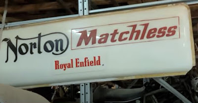 Norton Matchless Royal Enfield neon sign.
