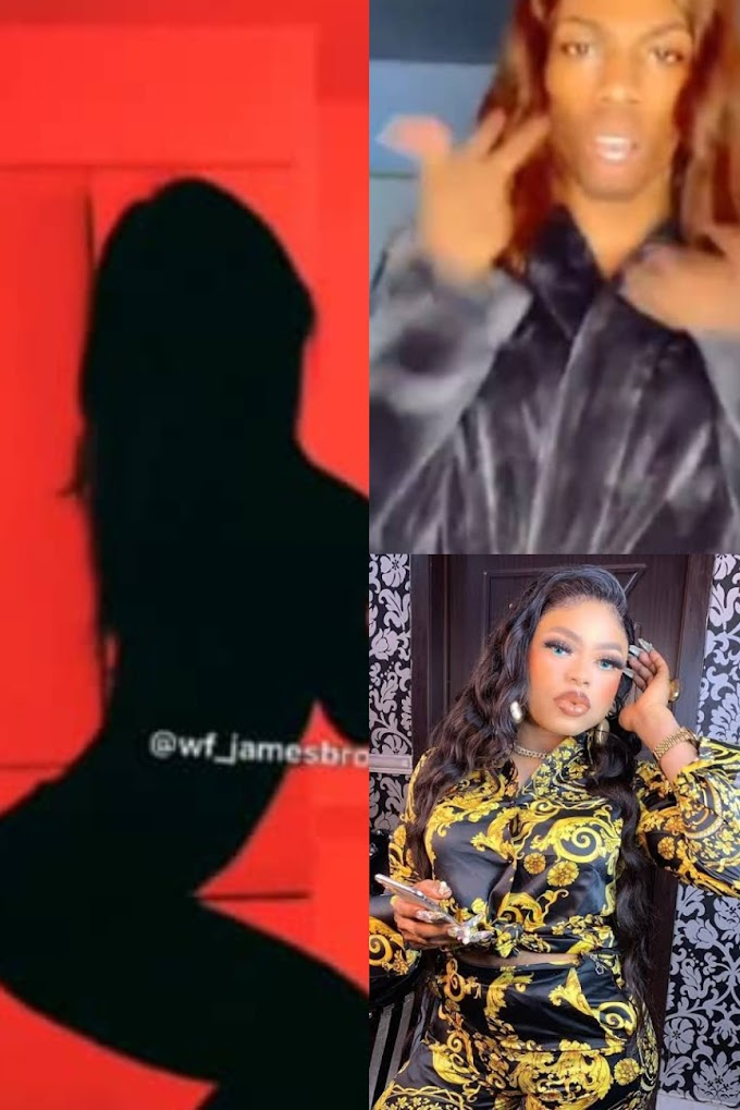 Bobrisky reacted to James Brown's #Silhouettechallenge video on Instagram