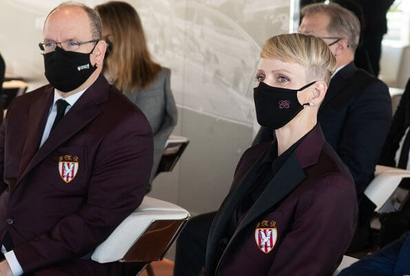 Prince Albert and Princess Charlene attended the official presentation of the Monaco Sevens 2021