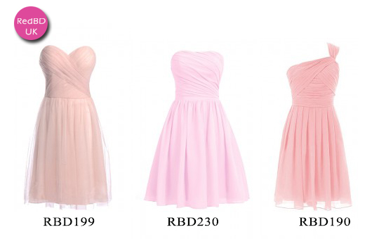 pink short bridesmaid dresses