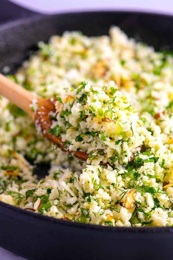 Garlic Herb Cauliflower Rice #healthyrecipeseasy #healthyrecipesdinnercleaneating #healthyrecipesdinner #healthyrecipesforpickyeaters #healthyrecipesvegetarian #HealthyRecipes #HealthyRecipes #recipehealthy #HealthyRecipes #HealthyRecipes&Tips #HealthyRecipesGroup  #food #foodphotography #foodrecipes #foodpackaging #foodtumblr #FoodLovinFamily #TheFoodTasters #FoodStorageOrganizer #FoodEnvy #FoodandFancies #drinks #drinkphotography #drinkrecipes #drinkpackaging #drinkaesthetic #DrinkCraftBeer #Drinkteaandread