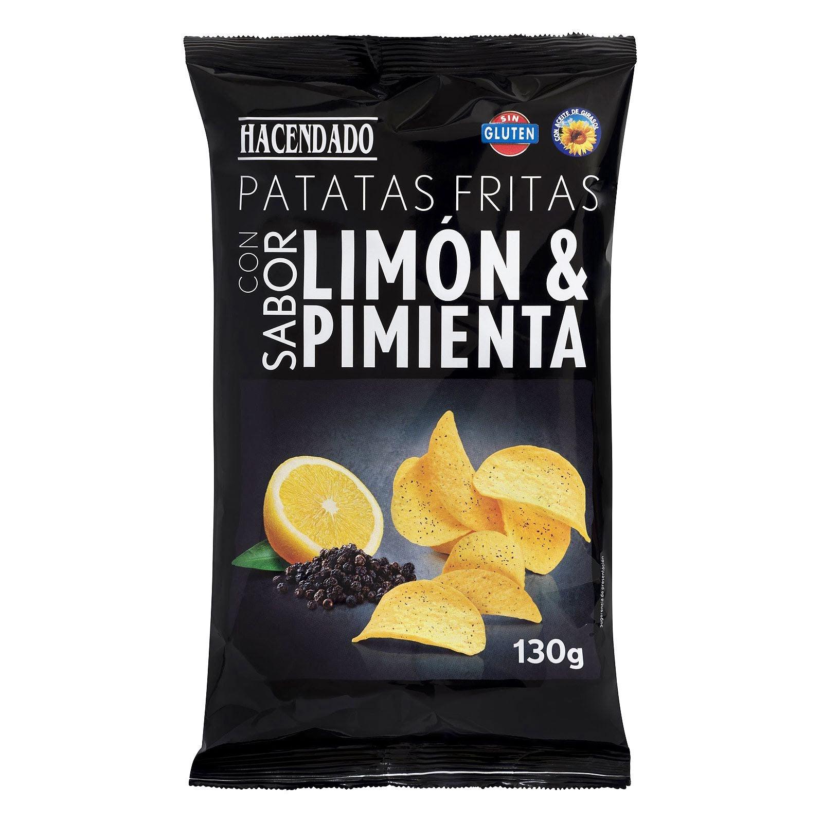 Patatas fritas sabor limón y pimienta Hacendado