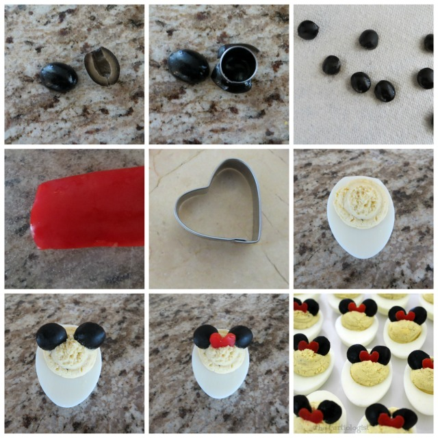 minnie mouse deviled egg tutorial
