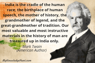 India Independence day quotes by Mark Twain