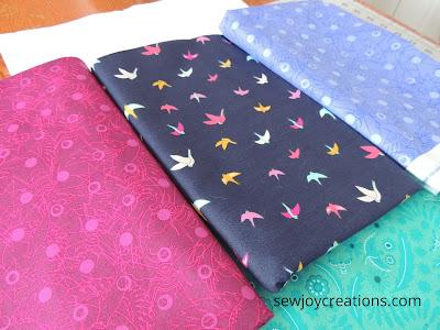 bird print multi directional print dazzle quilt