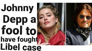Johnny depp libel case for ex wife amber heard
