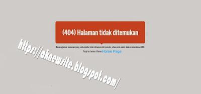 Membuat Halaman Tidak ditemukan 404