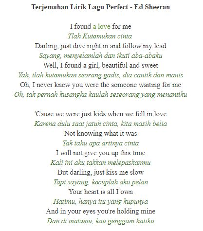 Lagu Perfect