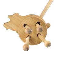 PW06, Push along Piglet , Lotes Wooden Toys