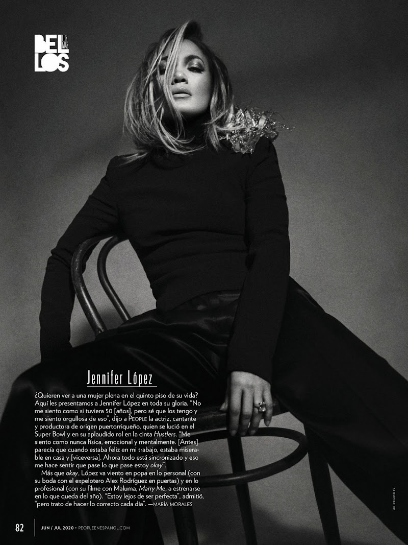 Jennifer Lopez Featured in People en Espanol -  June 2020