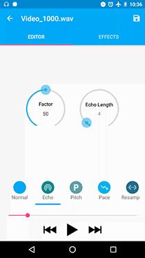 تطبيق Audio Recorder لعمل صدى صوت احترافي - صورة لقطة شاشة (3)