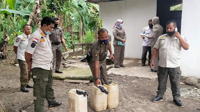 128 Liter Minuman Tuak Disita Satpol PP Pasbar