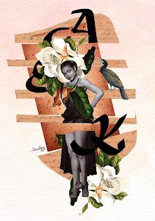 Colagem Eartha Kitt por Maria Rosa